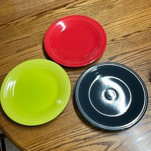3 fiesta dinner plates